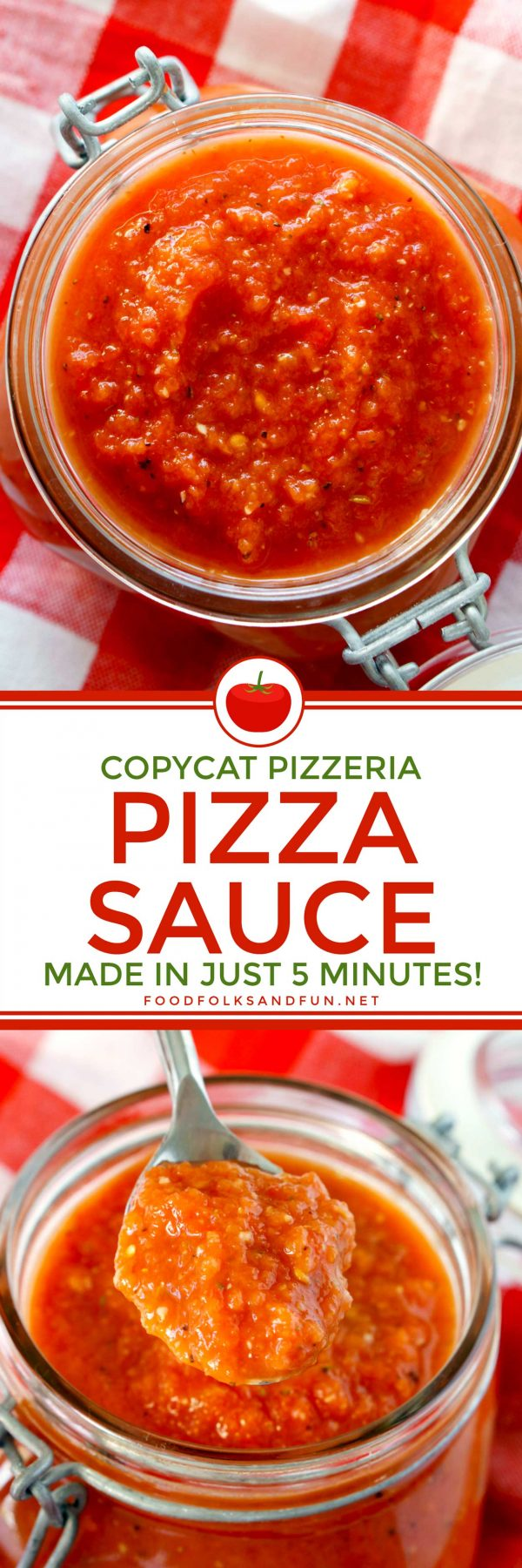 Copycat Pizzeria Pizza Sauce Recipe • Food, Folks and Fun