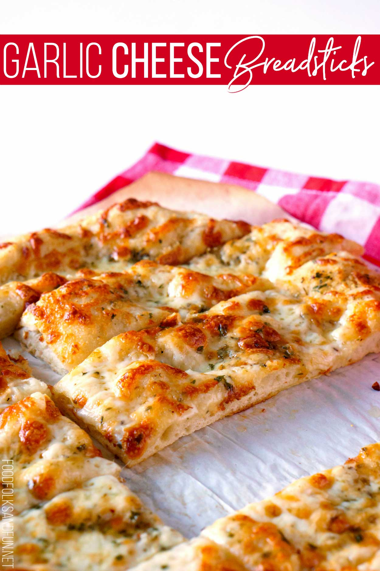 Homemade Garlic Cheese Breadsticks.