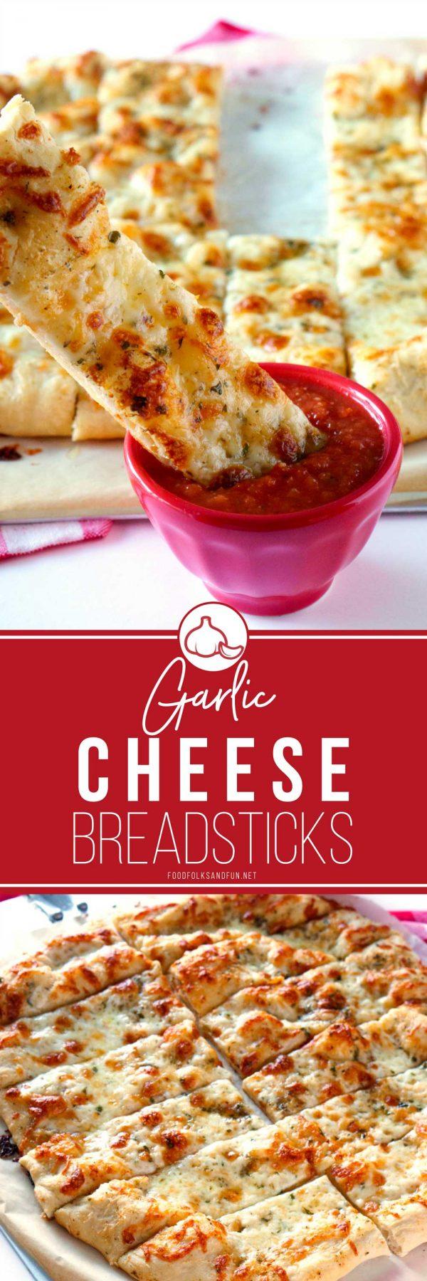 The best ever garlic cheese breadsticks recipe.