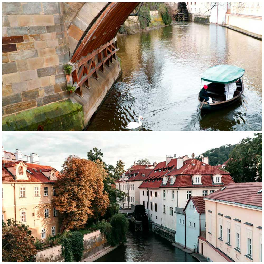 Kampa Island in Prague, Czechia