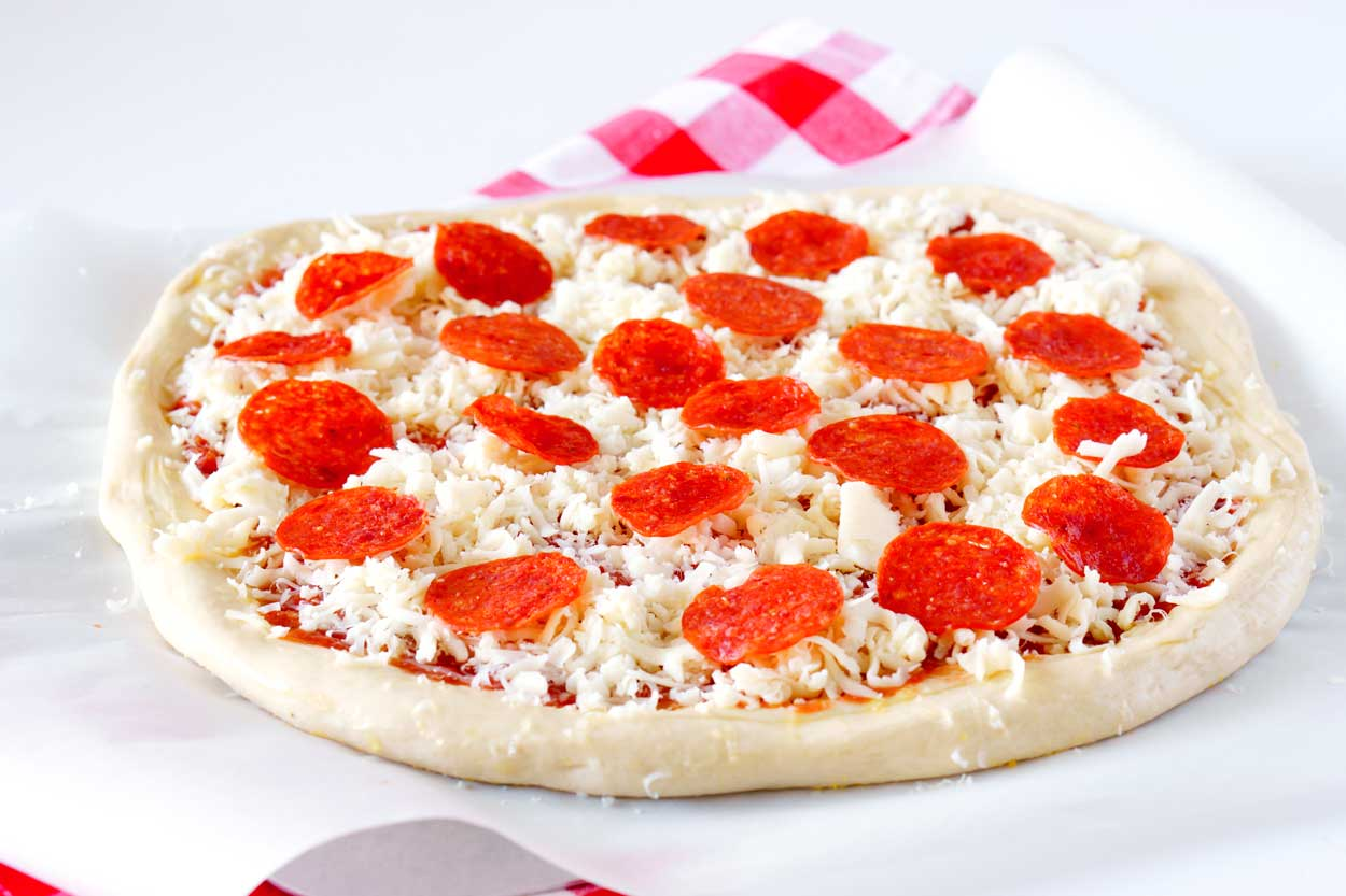 The Best Homemade Pizza Dough Recipe with Pepperoni
