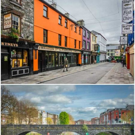 A collage of a night out in LImerick, Ireland with text overlay for Pinterest