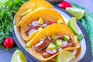 Simple Carne Asada Street Tacos on a plate.