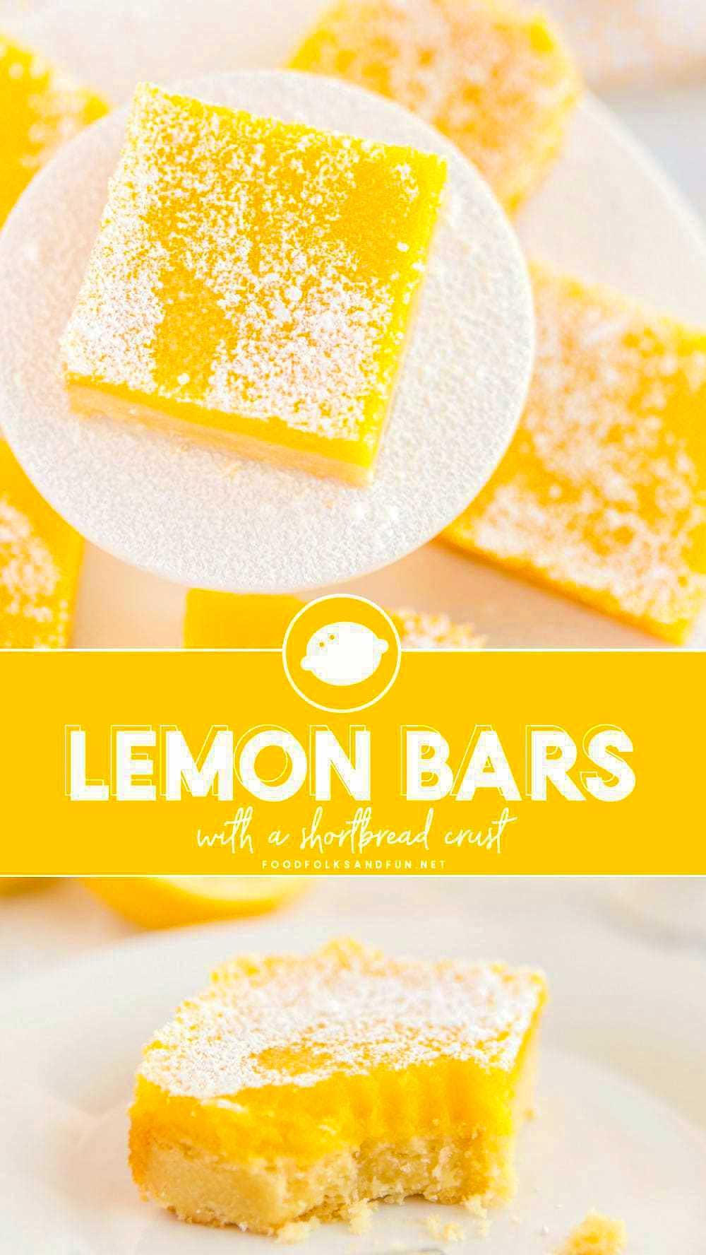 Zesty Lemon Bars with a shortbread crust.