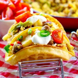 Brinner Waffle Tacos for an easy weeknight dinner!