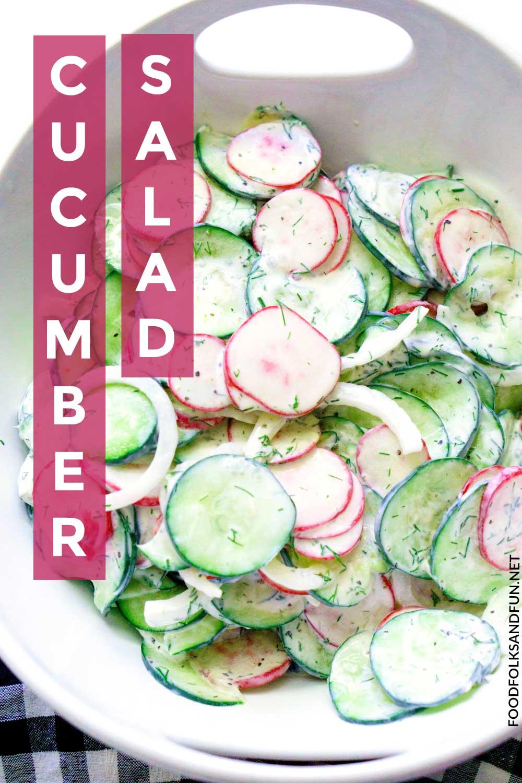 Quick and easy cucumber salad recipe!