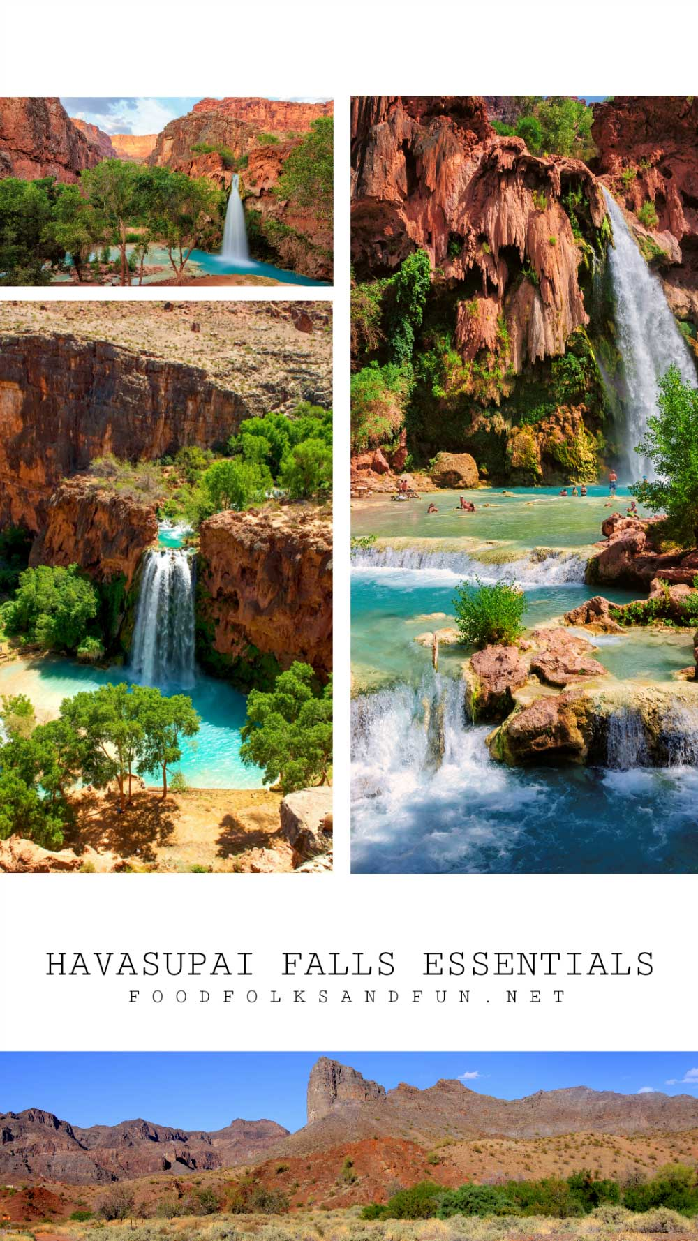 Havasupai Falls is one of those places that you must see in your lifetime. It takes a bit of time and planning to get there, but it's SO worth it! Here's an ultimate list of do's and don'ts for planning your trip to Havasupai Falls Arizona!  via @foodfolksandfun