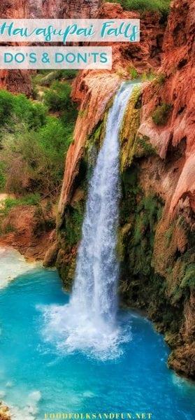Learn how to hike to the beautiful Havasupai waterfalls!