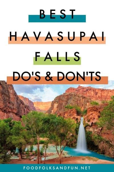 The Do's and Don'ts of Havasupai Falls Arizona!