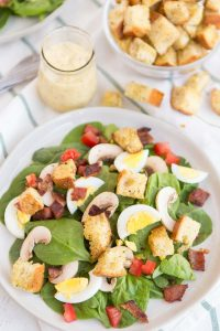 The Best Spinach Salad recipe with Poppy Seed dressing!