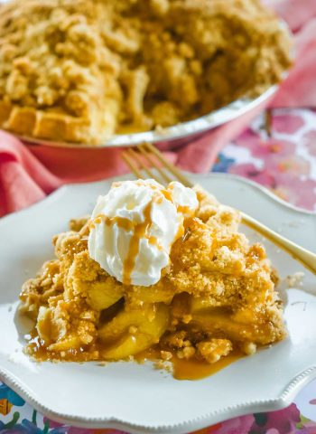 Dutch Apple Pie on a plate
