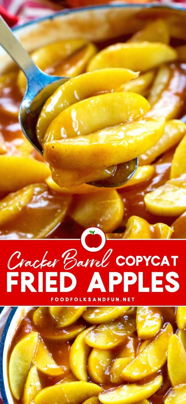 Check out this simple Cracker Barrel Fried Apples recipe! It is so heartwarming and captures the essence of some good ol' home cooking!