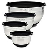 Metal mixing bowls with lids