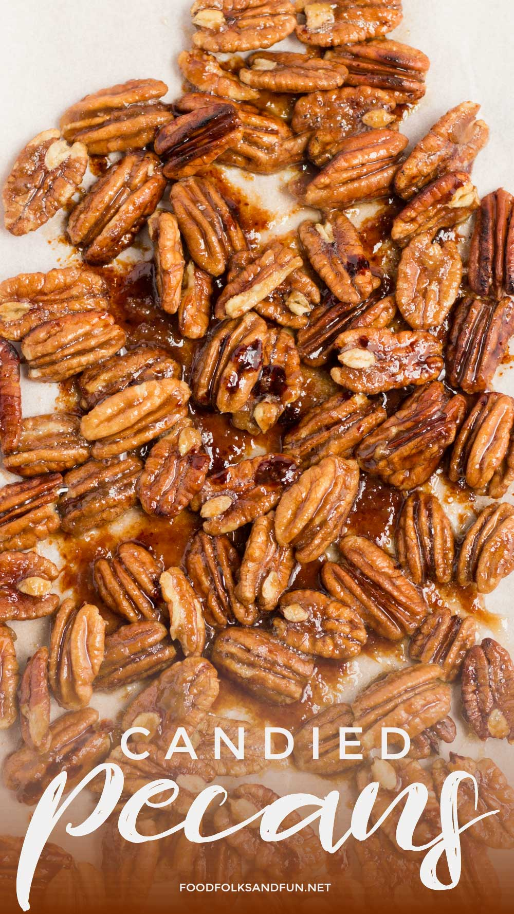 Easy, homemade Candied Pecans recipe.