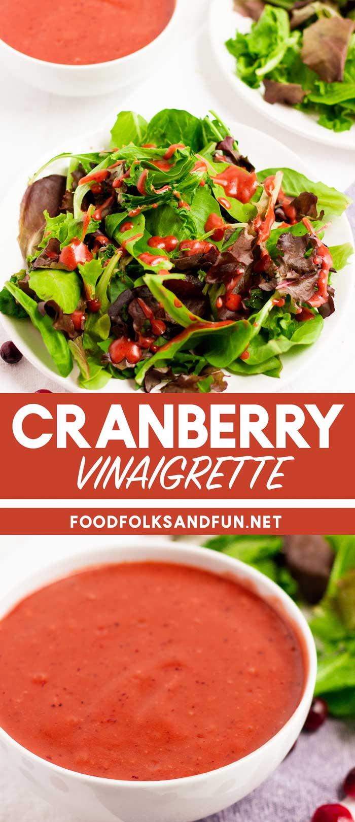 Cranberry Vinaigrette for salad