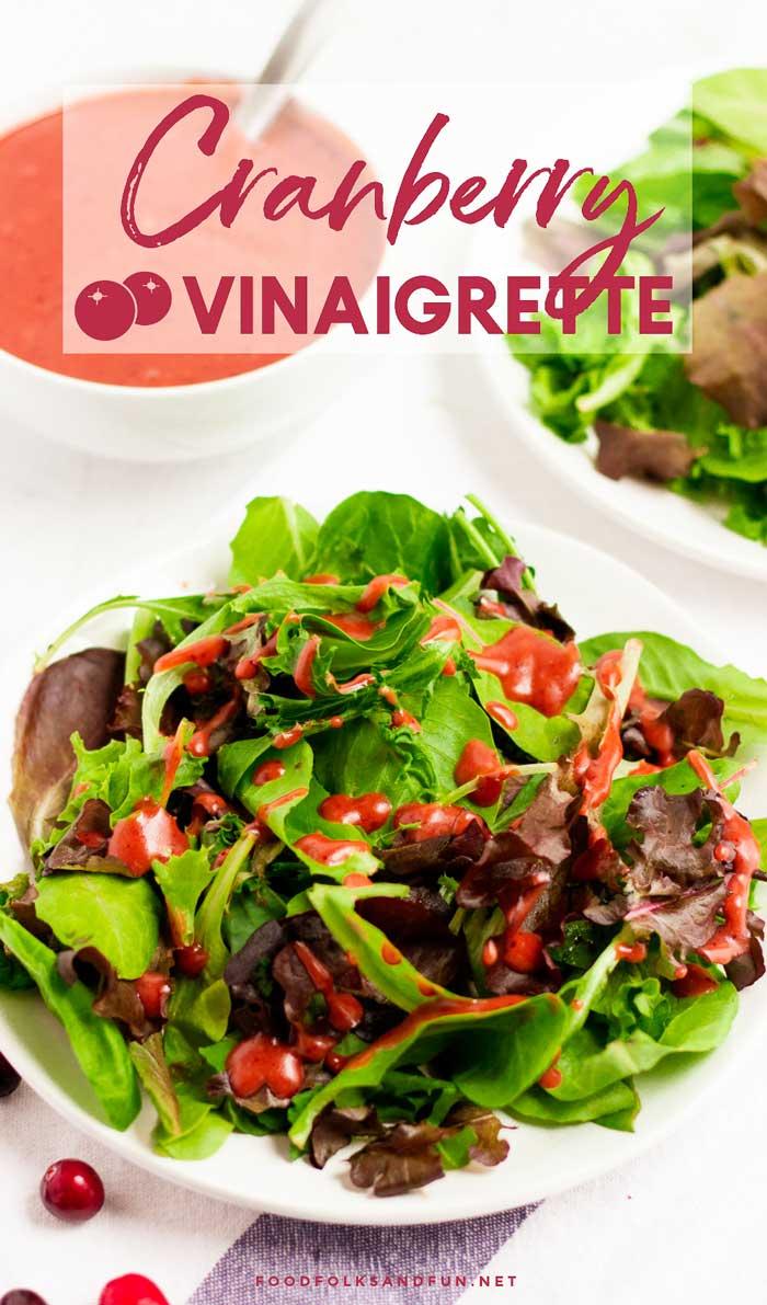 Thanksgiving Salad with Cranberry Vinaigrette
