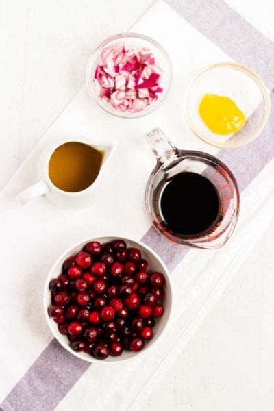 Cranberry Vinaigrette Ingredients