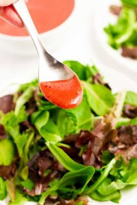 Cranberry Vinaigrette and field greens