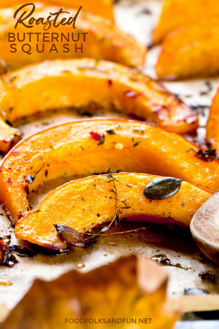 Roasted Butternut Squash slices ready to eat