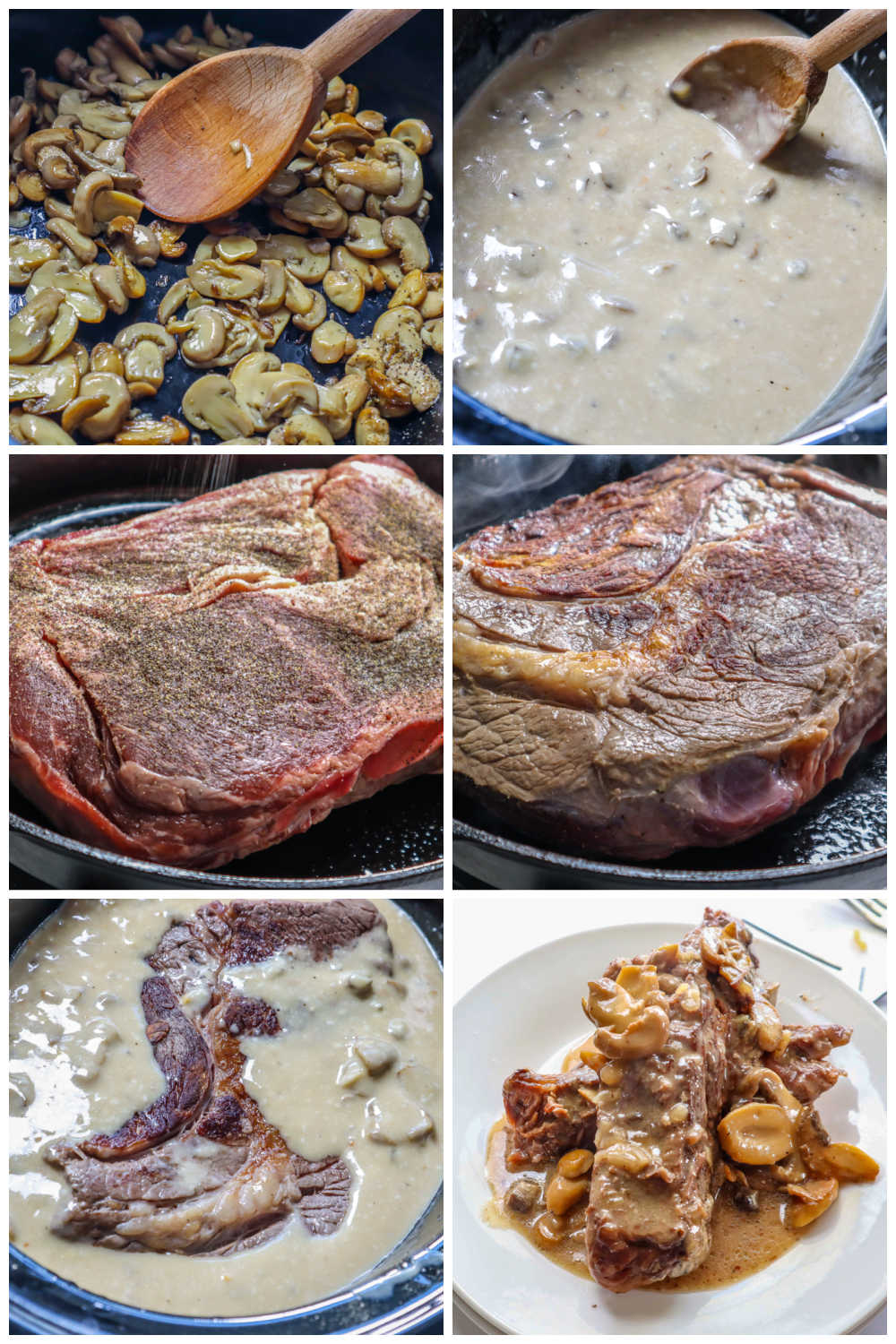 A picture collage of how to make crockpot pot roast.