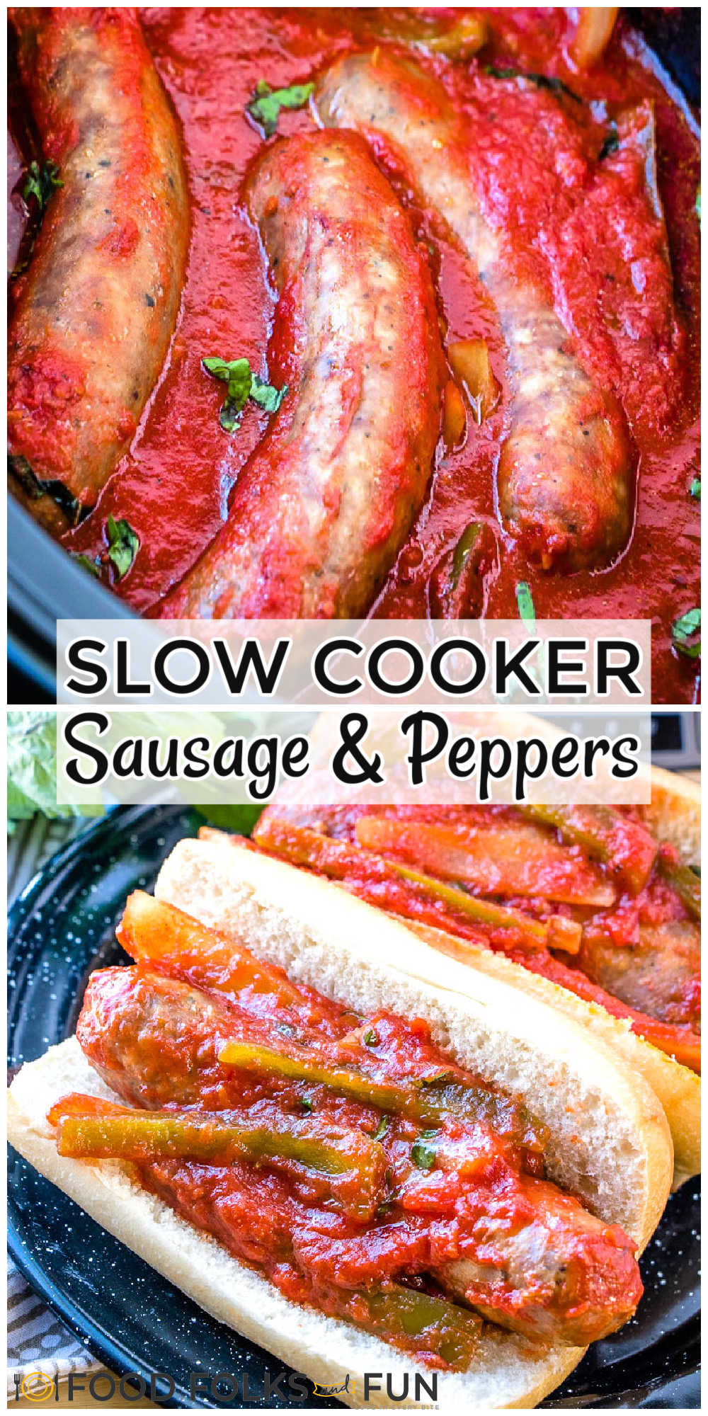 Slow Cooker Sausage and Peppers is a classic Italian-American comfort food dish. I've added my spin on it by cooking it in the crockpot! I includedmake ahead and freezer meal directions in this post! via @foodfolksandfun