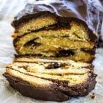 Chocolate Babka Bread on a table