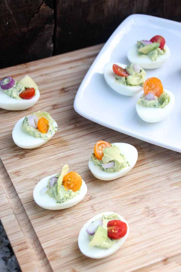 Deviled Eggs with lots of fresh herbs
