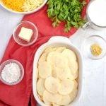 Ingredients needed to make Potatoes Au Gratin