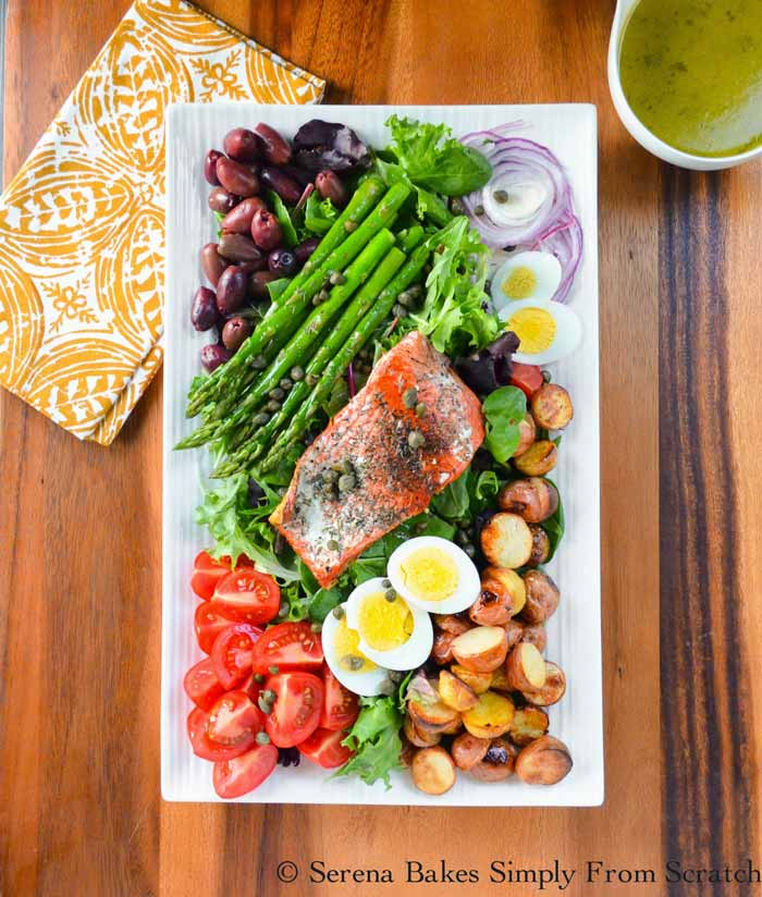 Salmon Salad with Hard Boiled Eggs