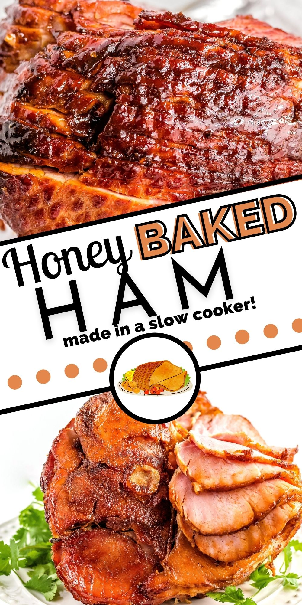 This Crockpot Copycat Honey Baked Ham for Easter Dinner is so succulent, and the ham glaze makes the most incredible crispy-sweet ham edges. via @foodfolksandfun
