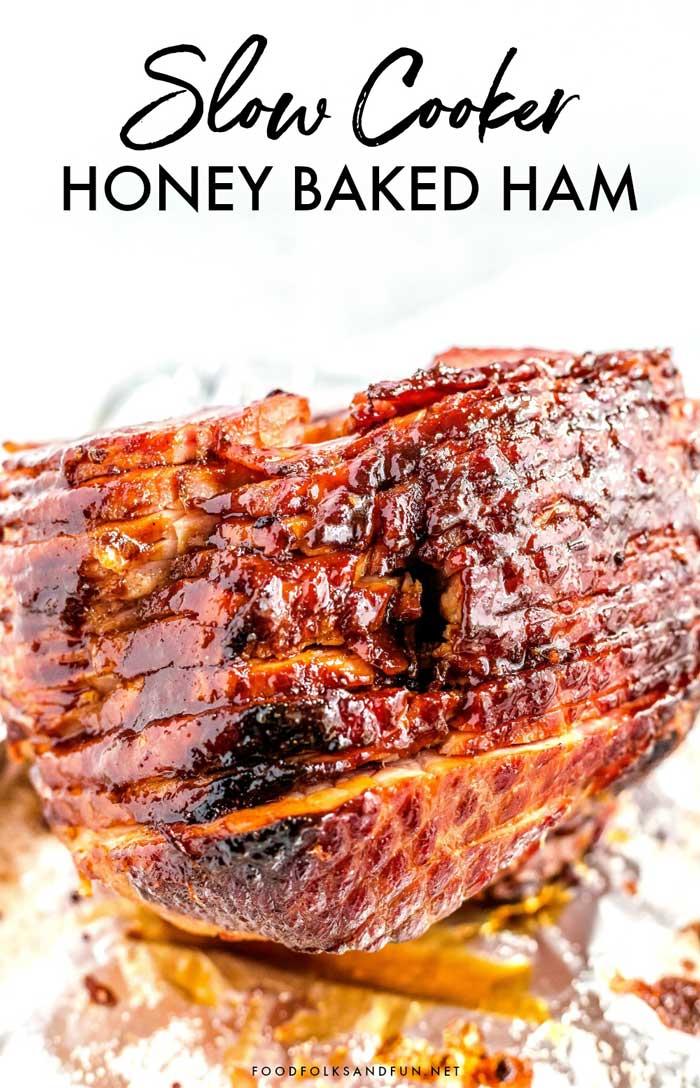 Easter Ham with glistening ham glaze