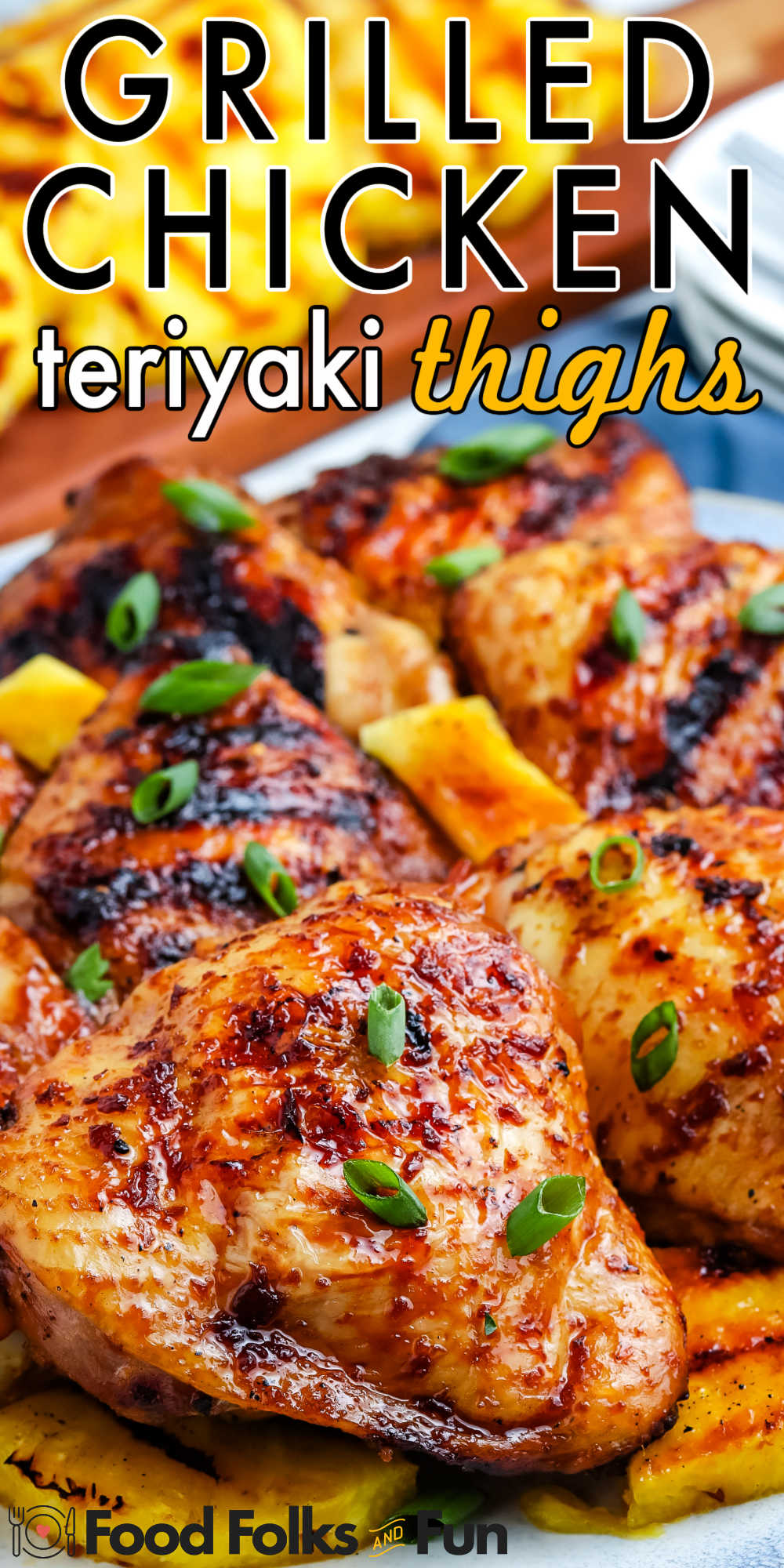This Grilled Teriyaki Chicken Thighs recipe is juicy and loaded with tangy-sweet teriyaki flavor that is irresistible. This dish is perfect for weeknight dinners and backyard barbecues.  via @foodfolksandfun