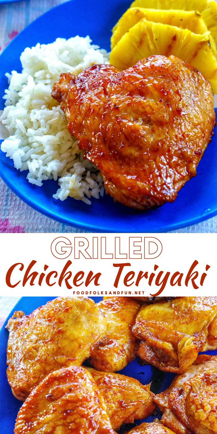 This Grilled Teriyaki Chicken recipe is juicy and loaded with tangy-sweet teriyaki flavor that is irresistible. This dish is perfect for weeknight dinners and backyard barbecues. #chicken #chickendinner #grilledchicken #grilling #baabrbcue #easyrecipe #dinner #dinnerrecipe #foodfolksandfun via @foodfolksandfun