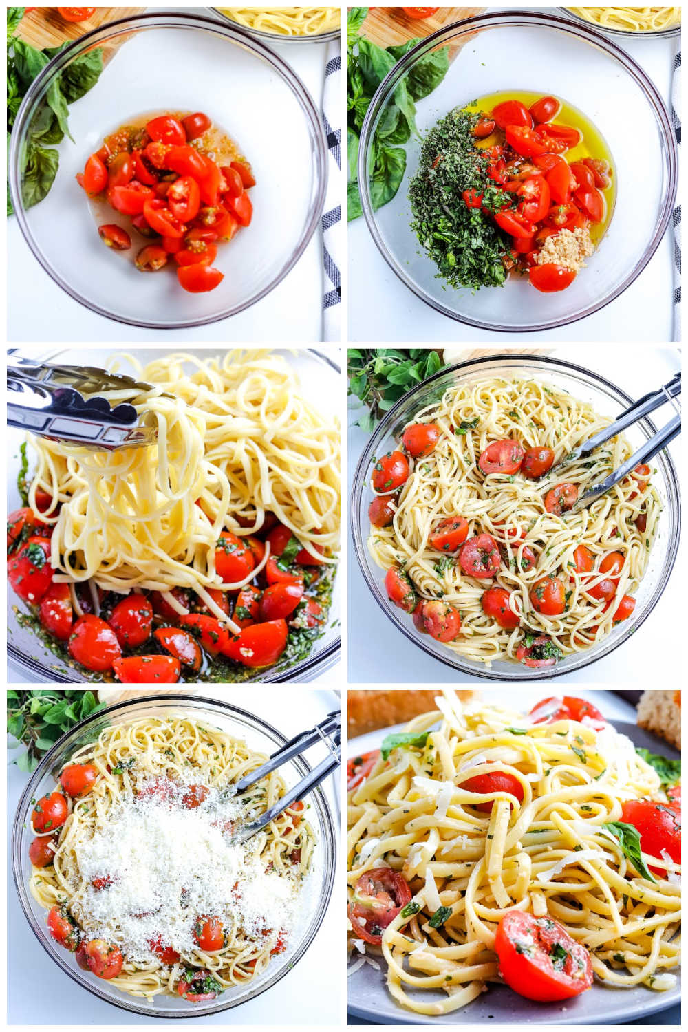 A picture collage of how to make this recipe.