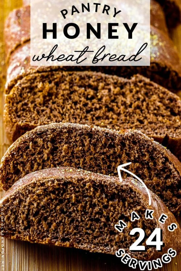 Honey Wheat Bread made with pantry ingredients.
