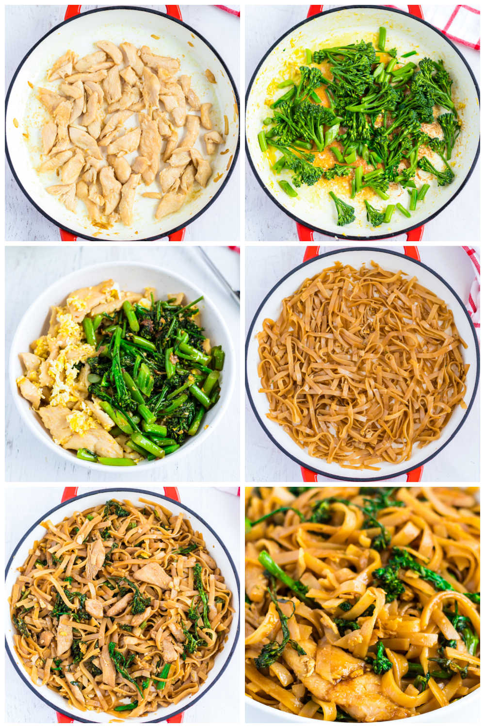 Pad See Ew Noodles is made with Thai rice noodles with chicken, Chinese broccoli, and a sweet and savory sauce. This homemade recipe rivals your favorite Thai restaurant! via @foodfolksandfun