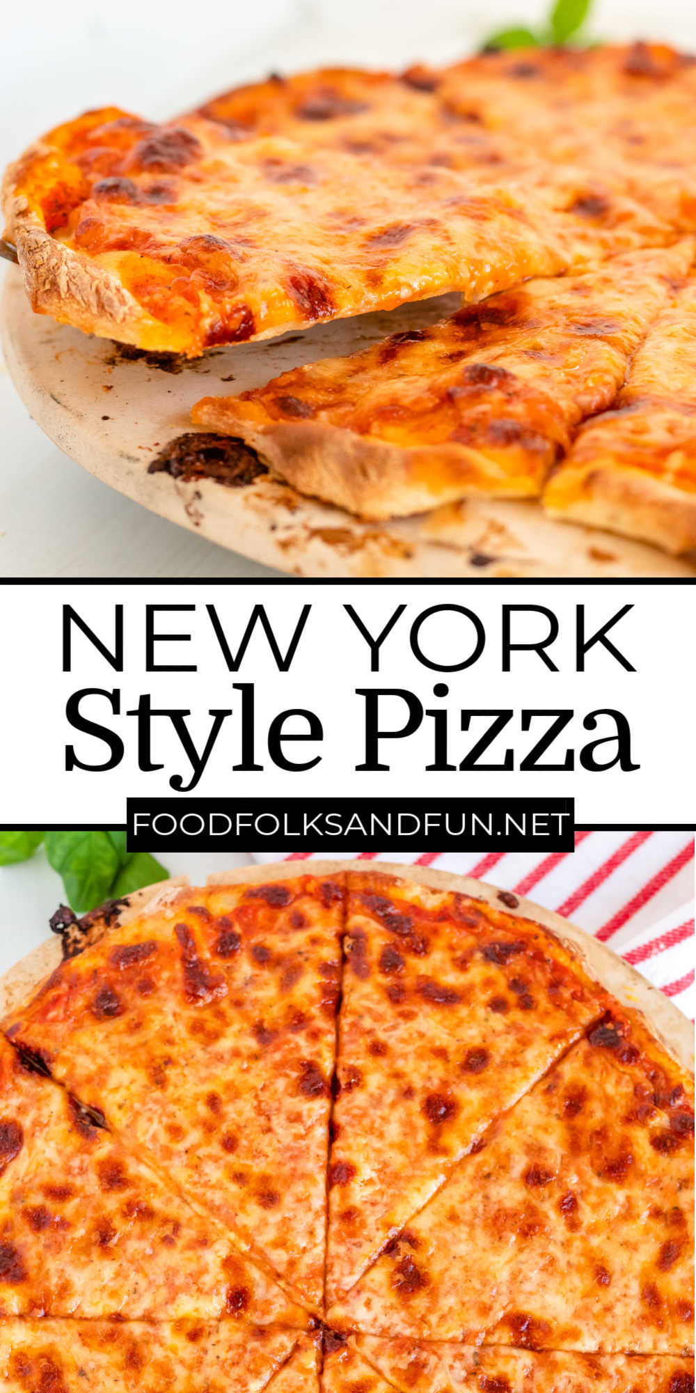 Finally, a thin-crust pizza recipe that tastes just like you got it from your favorite New York Pizzeria. Come learn how to make the best New York Style Pizza! via @foodfolksandfun