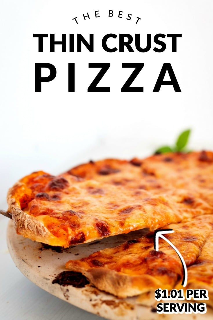Finally, a thin-crust pizza recipe that tastes just like you got it from your favorite New York Pizzeria. Come learn how to make the best New York Style Pizza! This recipe serves 6 and costs $6.06 to make. That's just $1.01 per serving!  via @foodfolksandfun