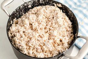Stir in the Rice Krispies.