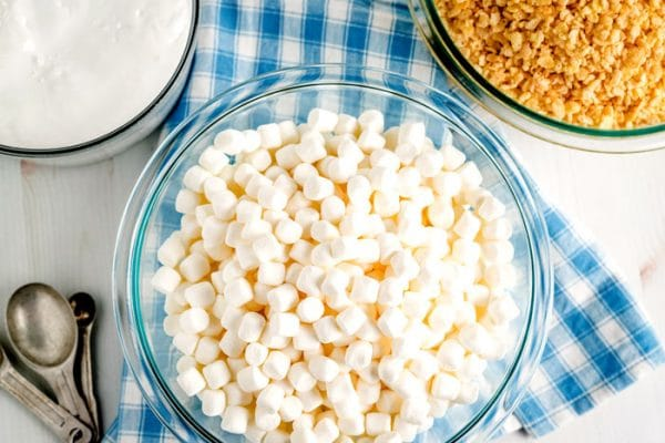 All of the ingredients needed to make the Best Rice Krispies Treats recipe.
