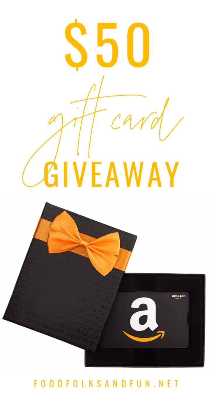 I'm excited to bring you a $50 Amazon Gift Card Giveaway! Enter to win between April 16-23. This giveaway is open to US and Canada residents.  via @foodfolksandfun