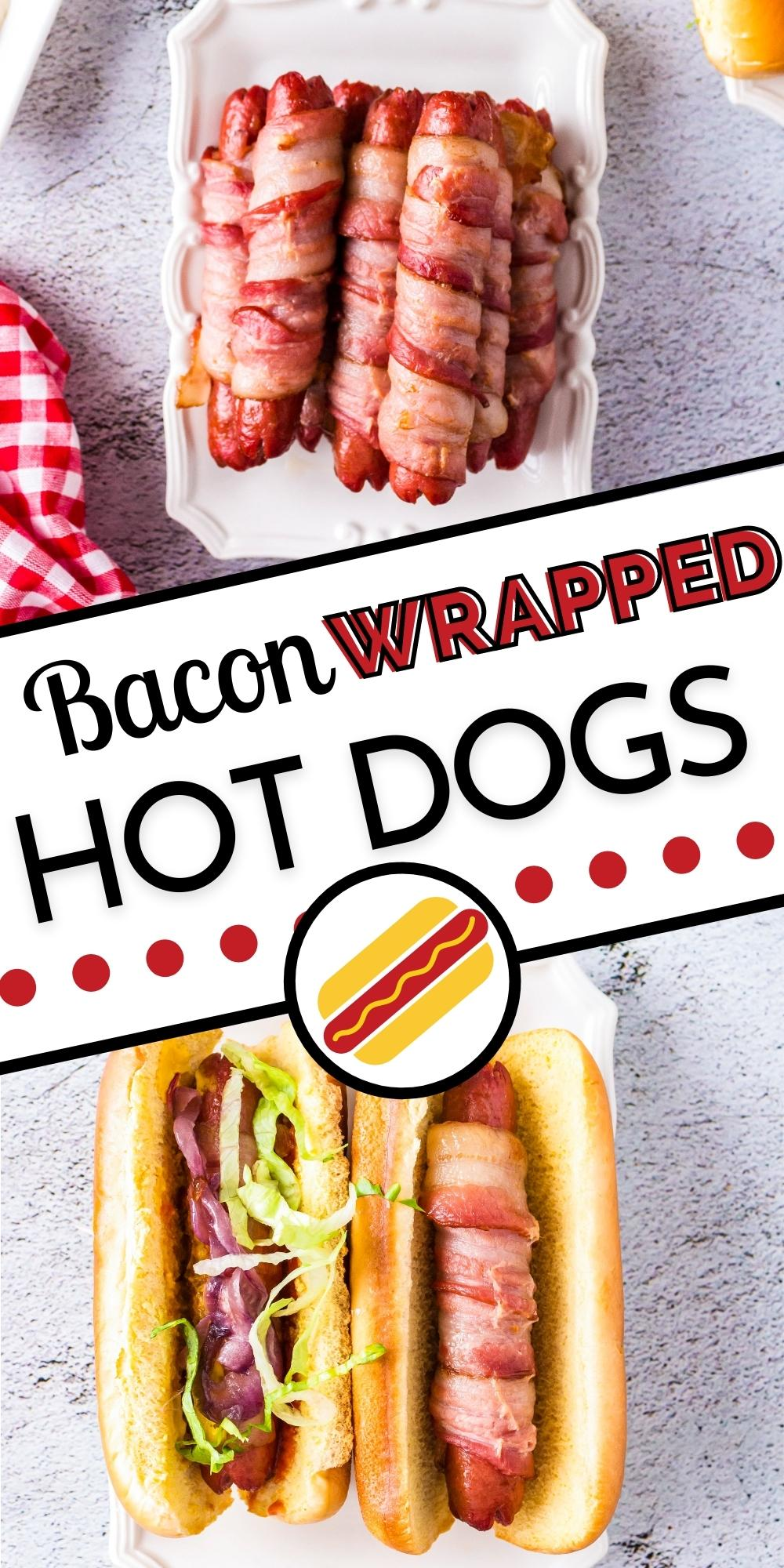Take the humble hot dog to the next level with this Bacon Wrapped Hot Dogs recipe. Both baking and grilling instructions are included in this recipe!  via @foodfolksandfun