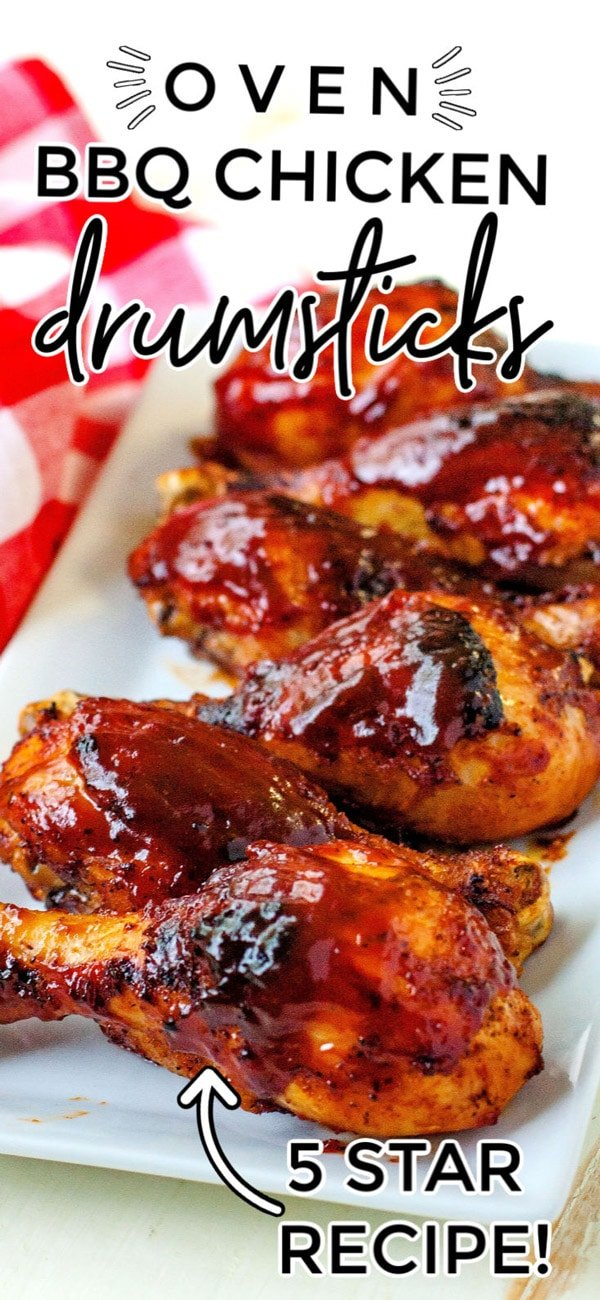 These Baked BBQ Chicken Drumsticks are an easy recipe that is made without firing up the grill. They're delicious and cost just $1.51 per serving to make. via @foodfolksandfun
