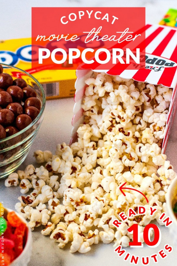 Transform movie night by making this Copycat Movie Theater Popcorn at home. It's delicious, easy, and so budget-friendly! This recipe serves 4 and costs $1.22 to make. That's just 31¢ per serving!  via @foodfolksandfun