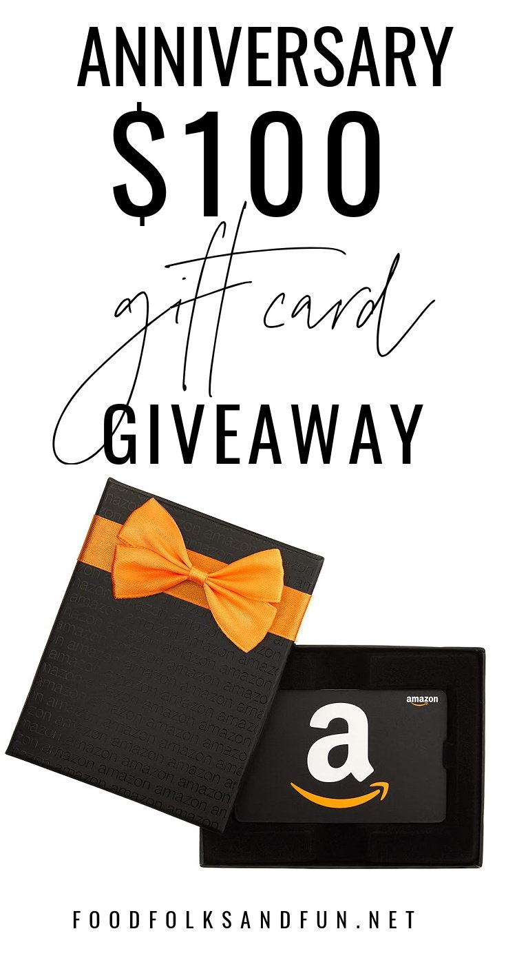 I'm excited to bring you a $100 Amazon Gift Card Giveaway! Enter to win between September 3-13. This giveaway is open to US and Canadian residents.  via @foodfolksandfun