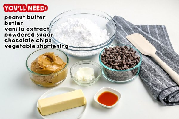 All the ingredients needed to make Buckeye Candy