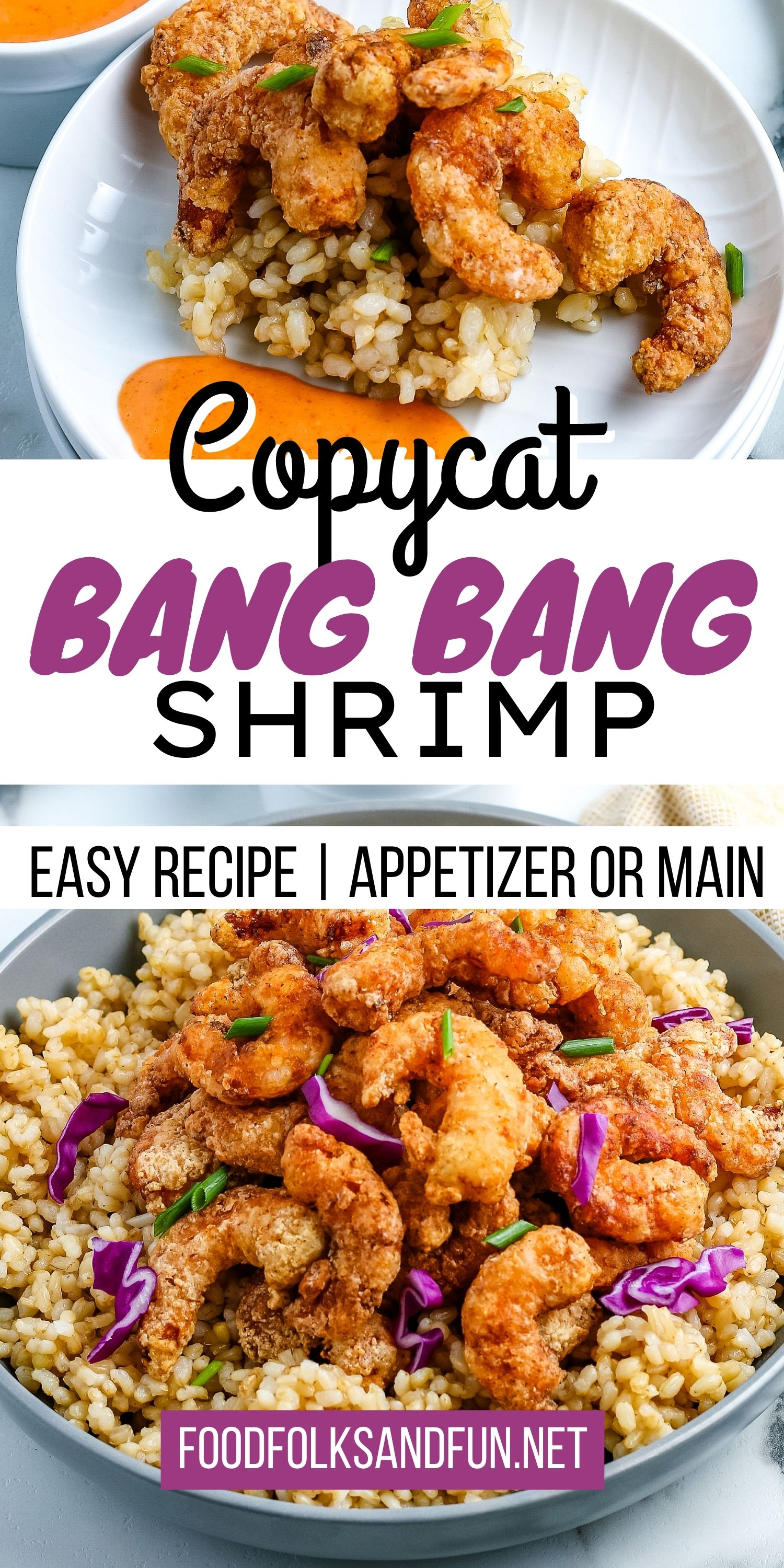 This Bang Bang Shrimp recipe is a copycat of Bonefish Grill's dish. It's easy to make, and you can serve it as an appetizer or main dish. via @foodfolksandfun