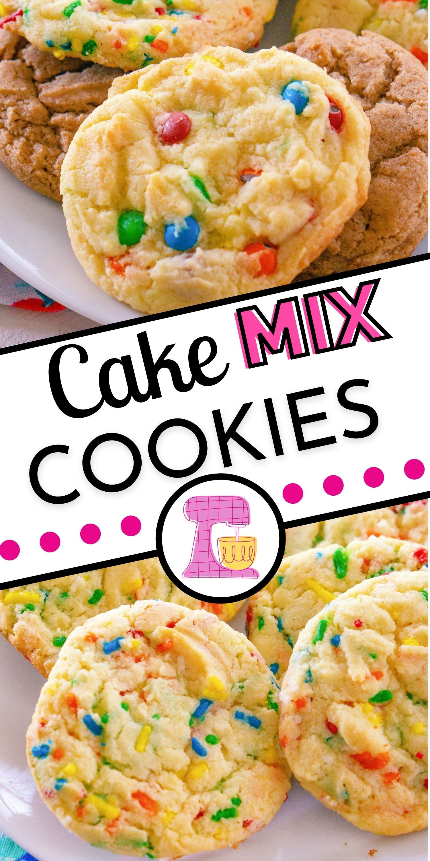 All you need are just four ingredients to make these Cake Mix Cookies. My recipe includes instructions for three different flavor varieties: M&Ms, sprinkles, and cinnamon. via @foodfolksandfun