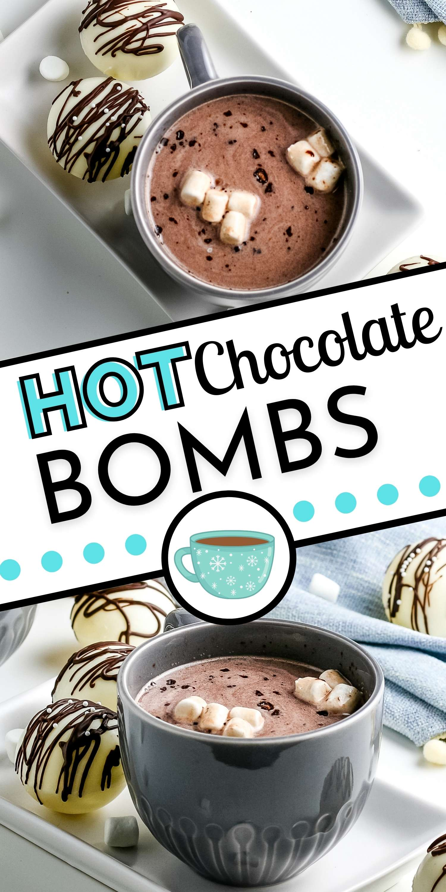 Here is a step-by-step tutorial on How To Make Hot Chocolate Bombs. Make six cocoa bombs for less than the price of one at chocolate shops and high-end food stores! via @foodfolksandfun