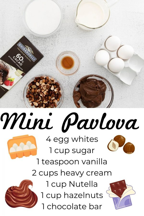 All of the ingredients needed to make this Mini Pavlova recipe.